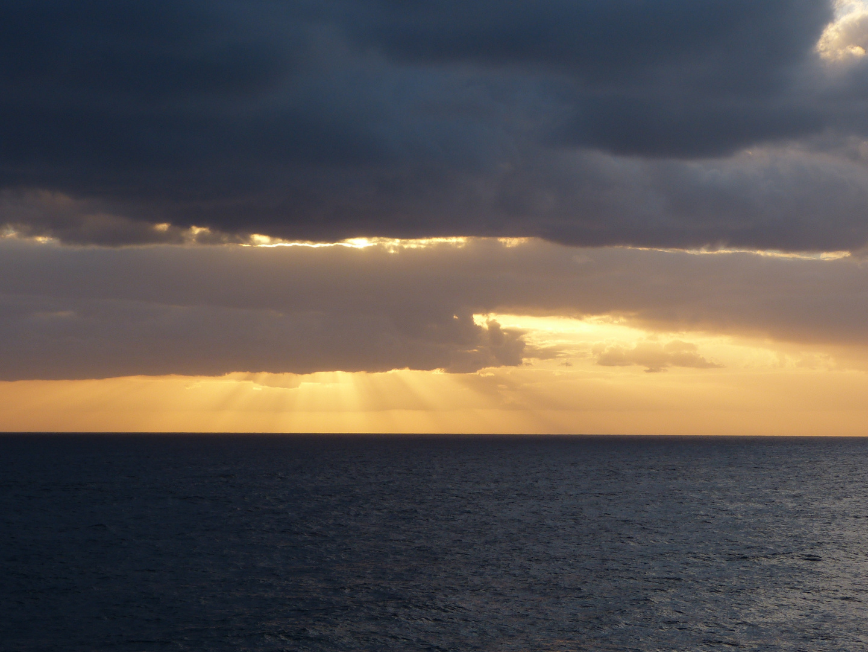 Glatte See vor La Palma am Morgen