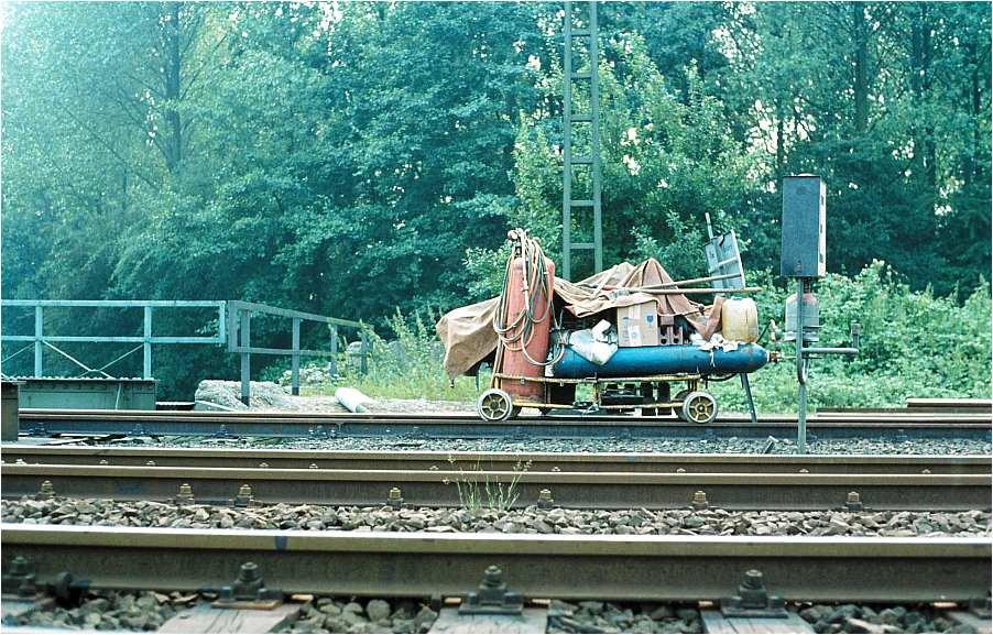 Gleisarbeiten, Schweißgerät