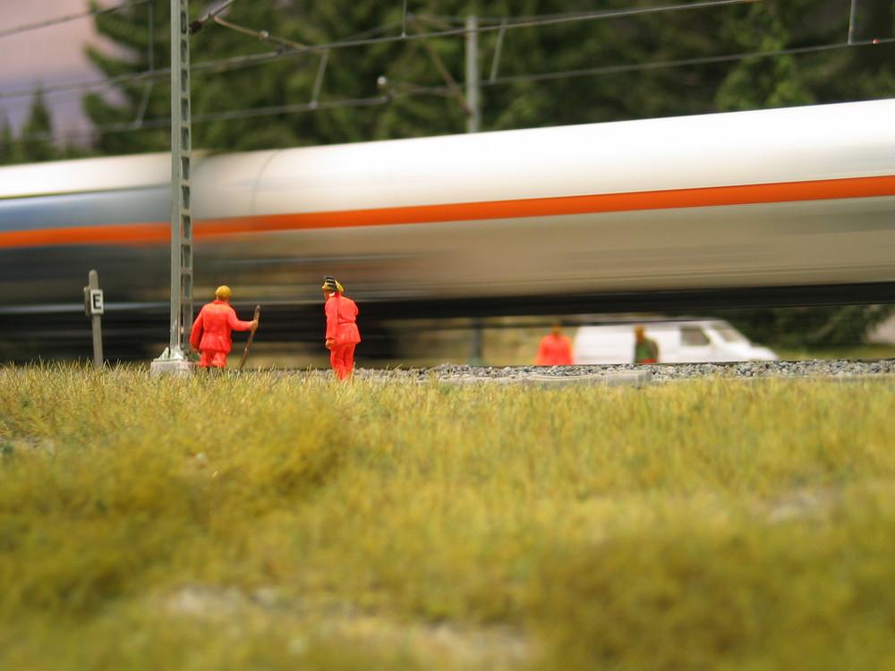 Gleisarbeiten und Güterverkehr