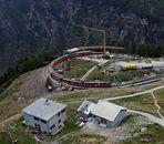 Gleisbau auf Alp Grüm