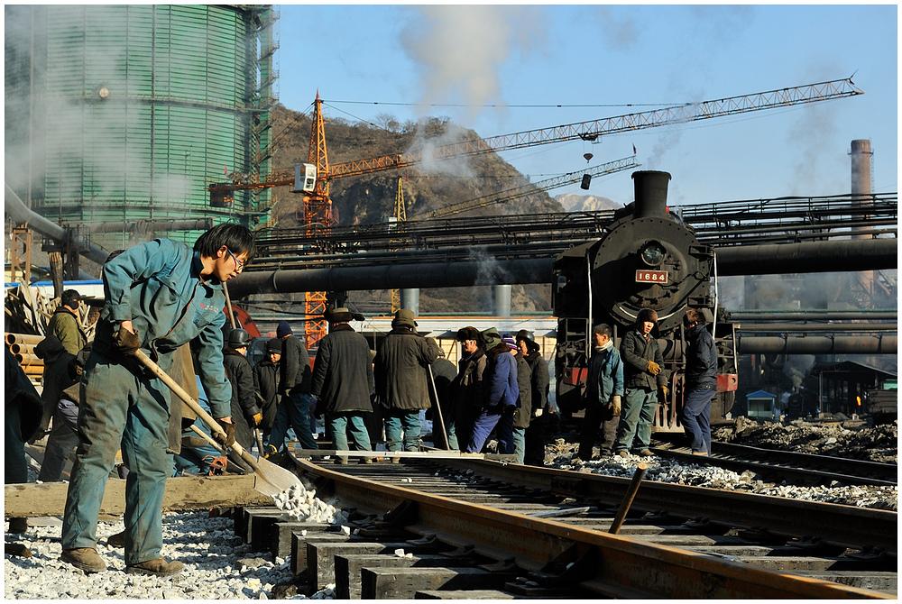 Gleisbau im Stahlwerk I