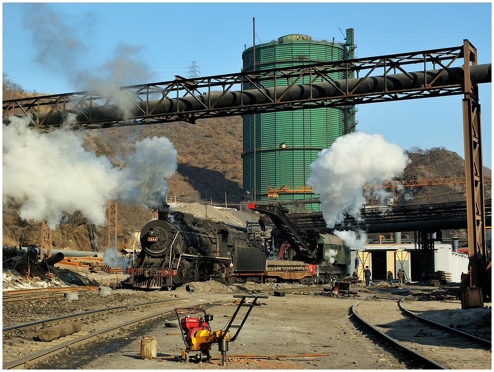 Gleisbau im Stahlwerk III