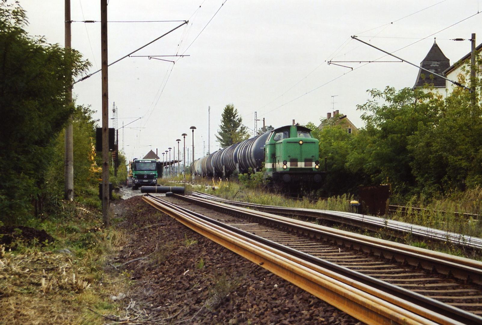 Gleisbauarbeiten und Zugverkehr