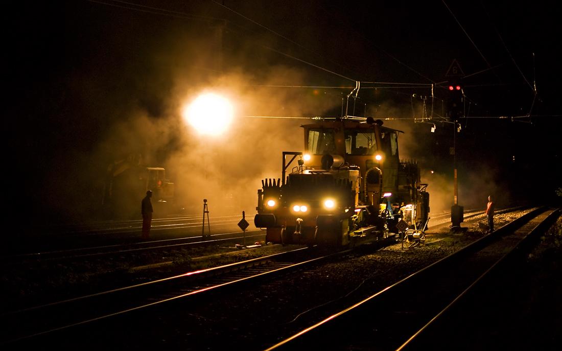 Gleisbauarbeiten XVI