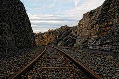 Gleise einer alten Bergbahn