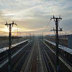 Gleise im Morgenlicht...