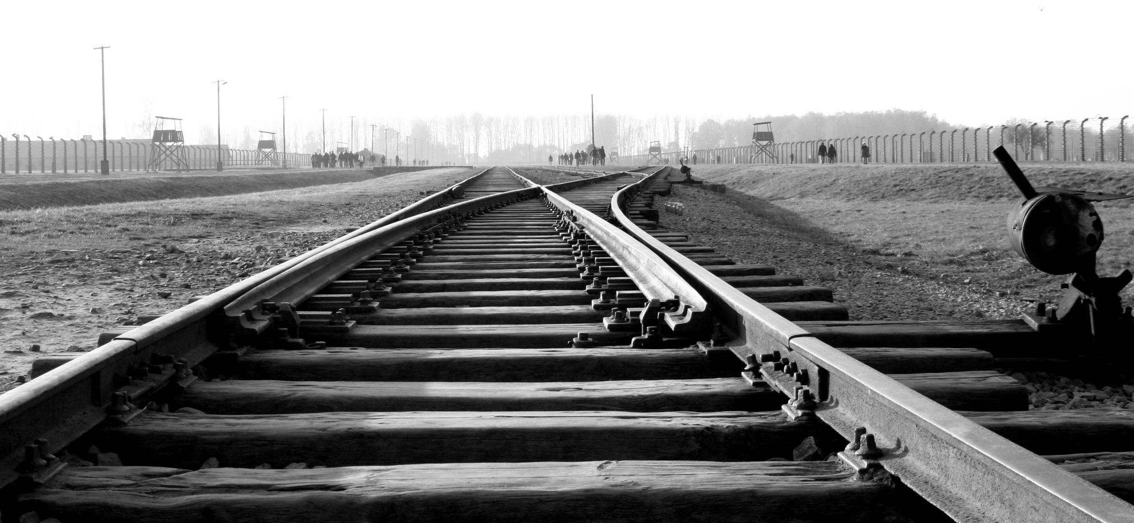 Gleise in Auschwitz-Birkenau