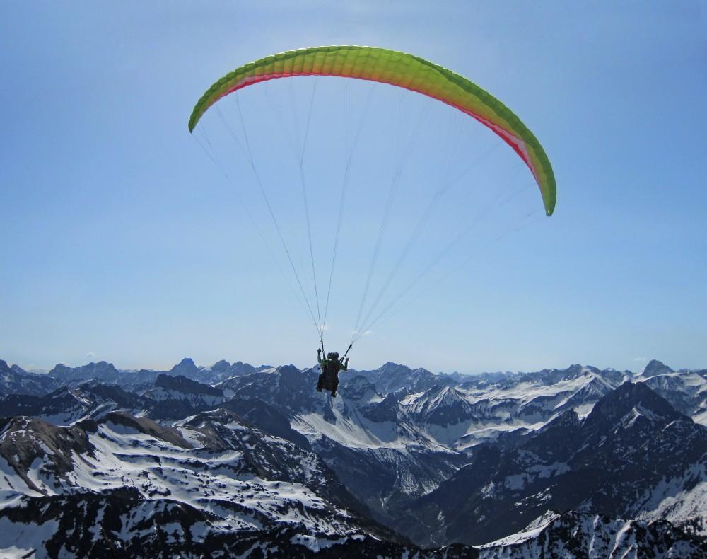 Gleitschirmfliegen am Fellhorn