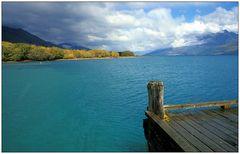 Glenorchy Pier: Blick auf Lake Wakatipu