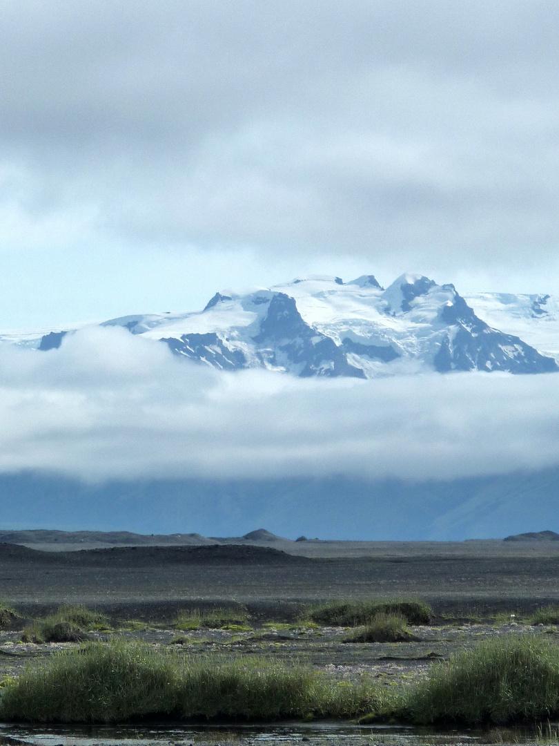Gletscher im Nebel