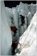 Gletscher-Kraxeln in Neuseeland