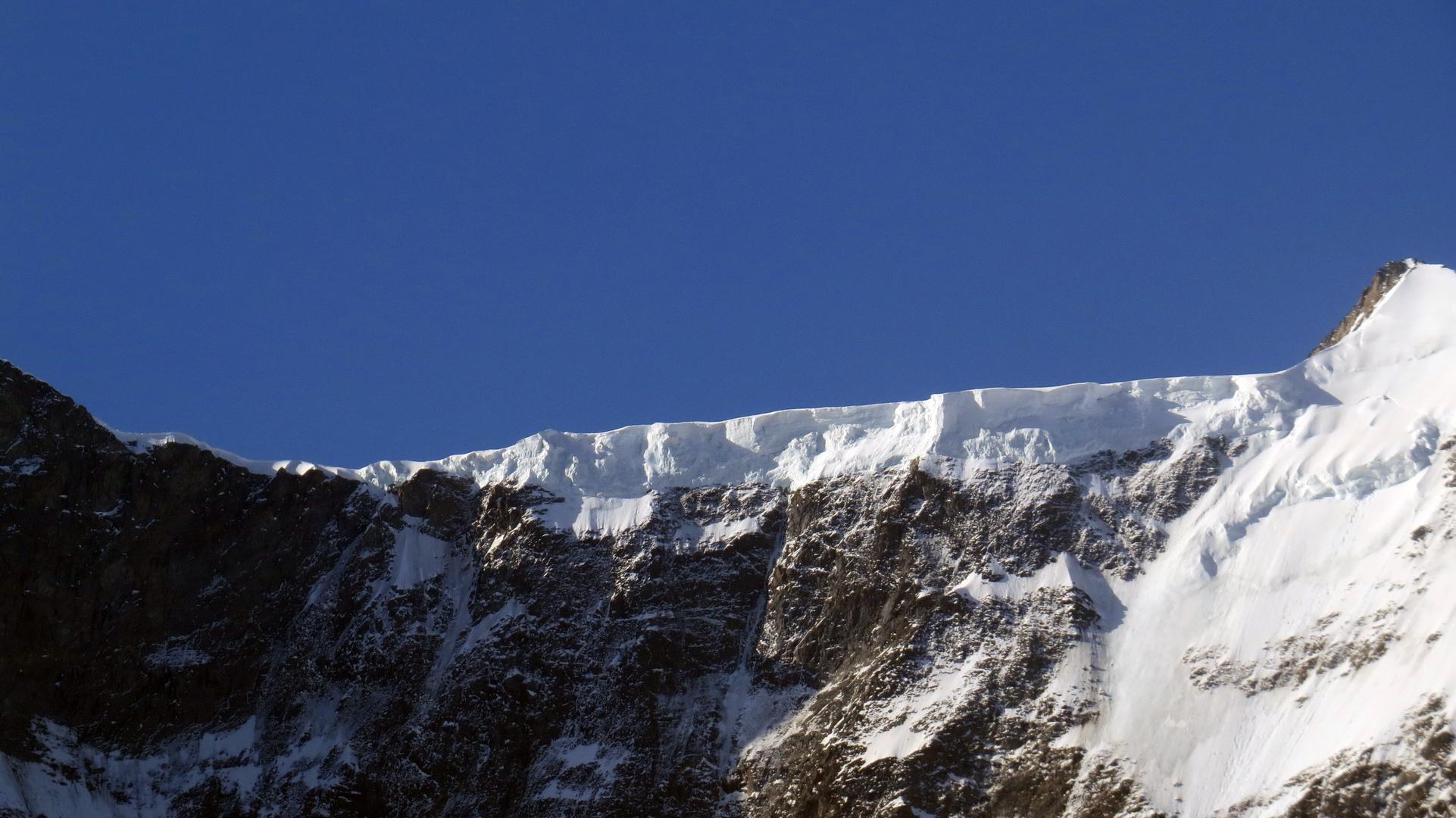Gletscherabbruch am Schreckhorn