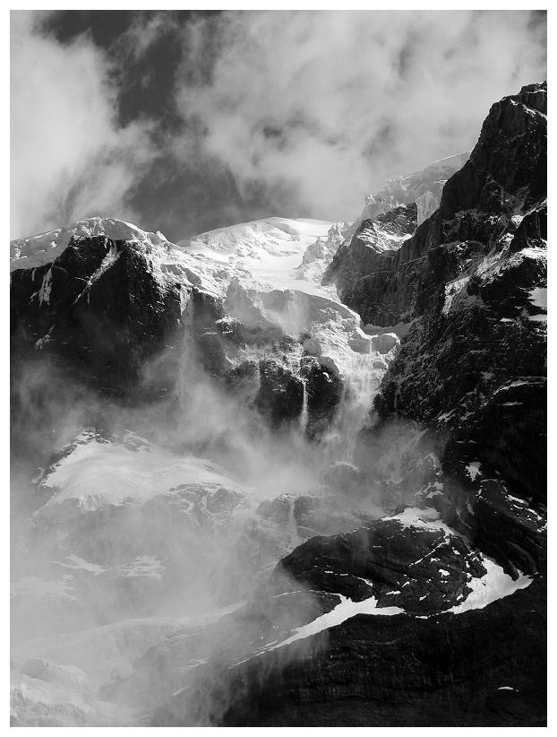 Gletscherabbruch im Valle Frances