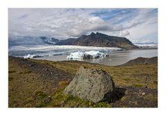 Gletscherblick mit Eisberg
