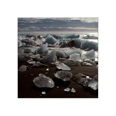 gletschereis am lavastrand