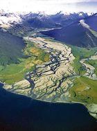 Gletscherfluss in den Lake Wakatipi