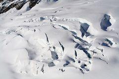 Gletscherformationen am Jungfraugletscher in 3500 Metern