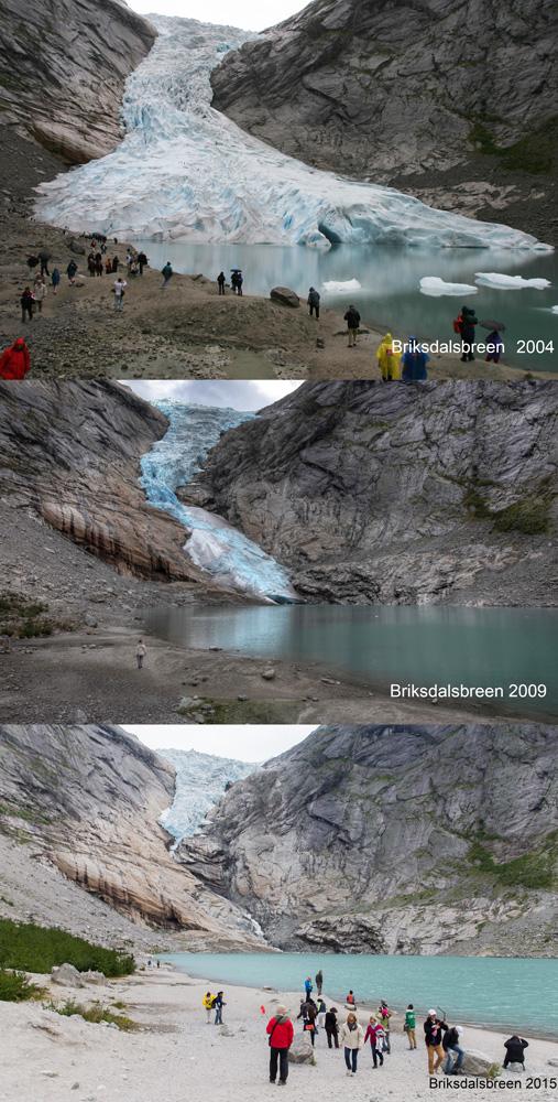 Gletscherrückzug am Briksdalsbreen