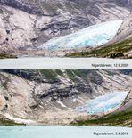 Gletscherrückzug am Nigardsbreen