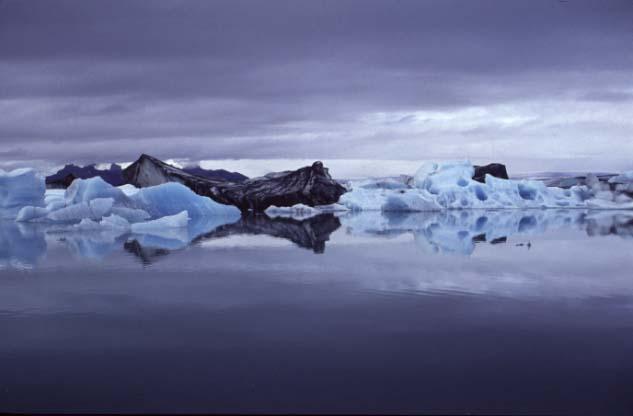 Gletschersee in Südisland