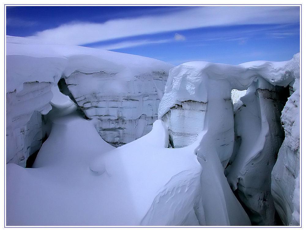 Gletscherspalte von der Nähe