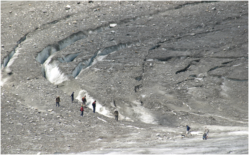 Gletschertouristen