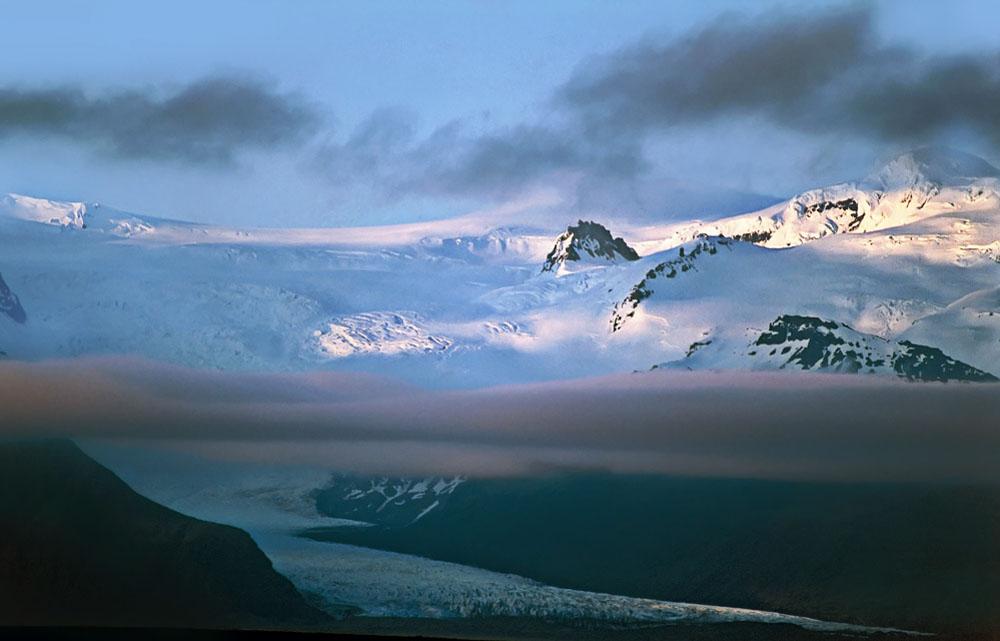 Gletscherwelt im Abendlicht
