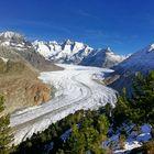 Gletscherzunge im Wallis (Schweiz)