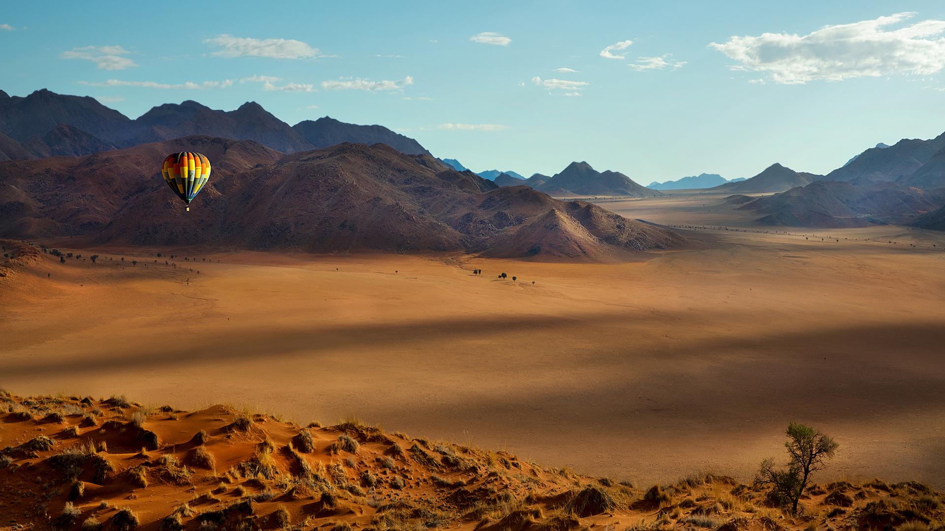 Globo sobre el desierto de Namib