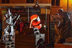 Glockenguss auf dem Gothaer Hauptmarkt