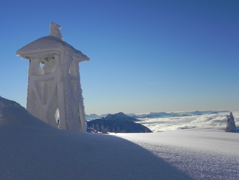 Glockenturm beim Hochleckenhaus - Blick nach Westen