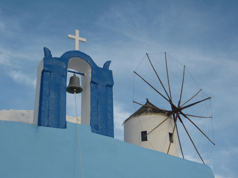Glockenturm blau