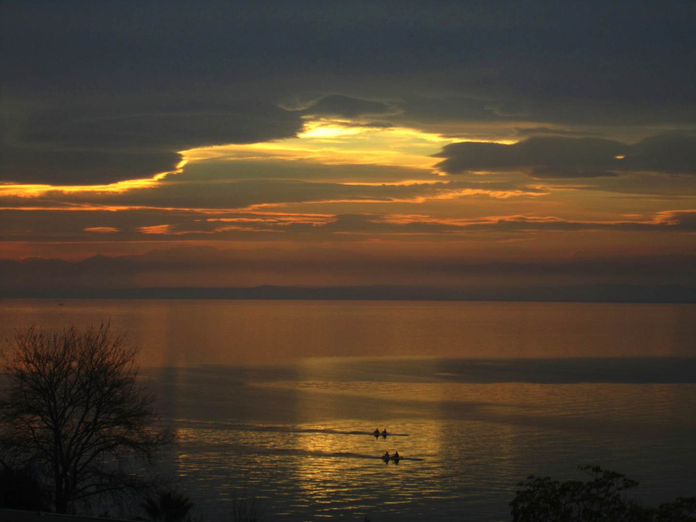 GLORIOUS SUNSET IN THERMAIKOS GULF, THESSALONIKI