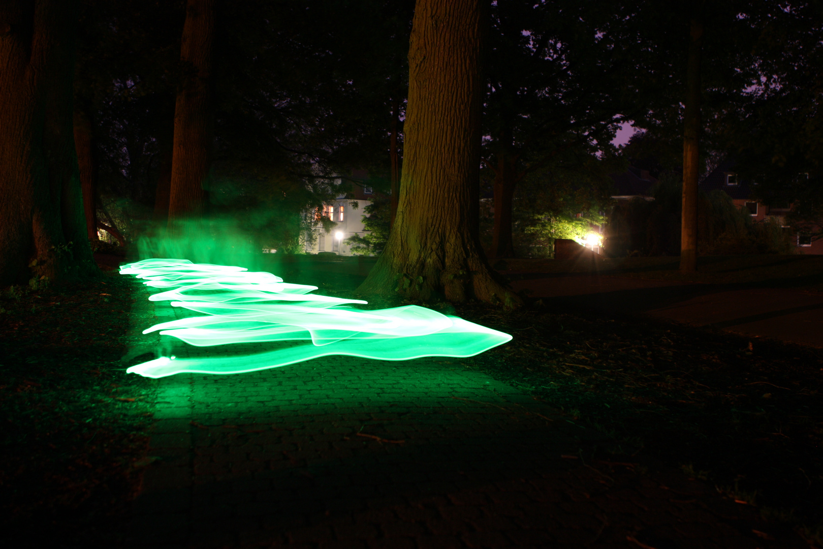 glowing way