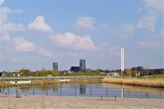 Glückauf Park in Gelsenkirchen Hassel mit Blick auf Zeche Westerholt