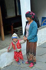 Glücklich in der Manaslu-Region