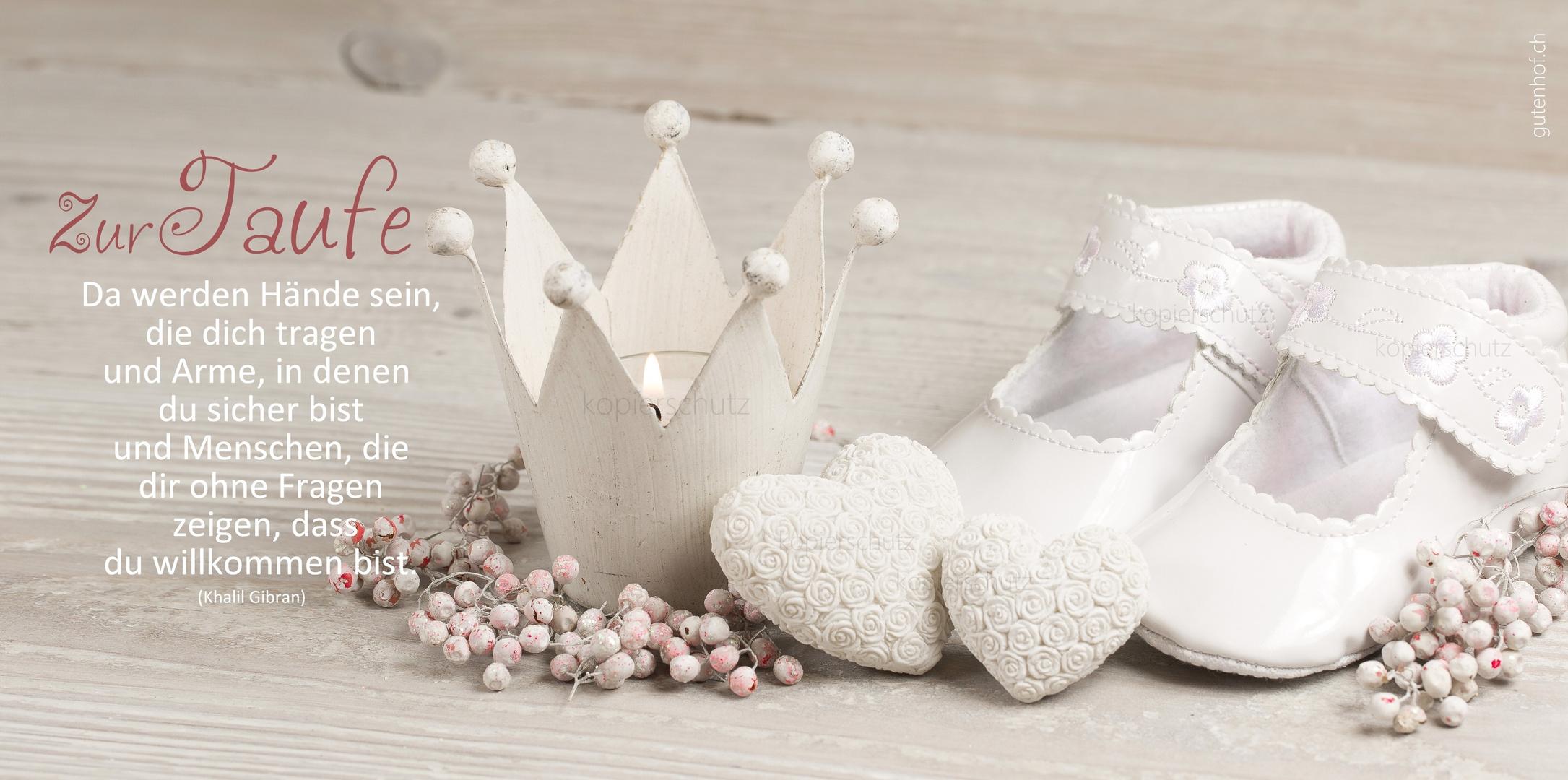 Glückwunschkarte Zur Taufe Foto Bild Gratulation Und