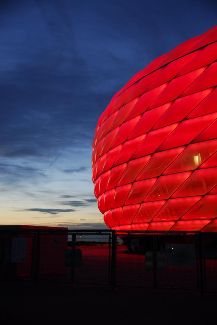 Glühende Allianz-Arena