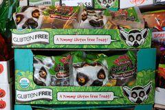 """Gluten freie """"Lemur catta"""" im Bioladen in Las Vegas, USA"""