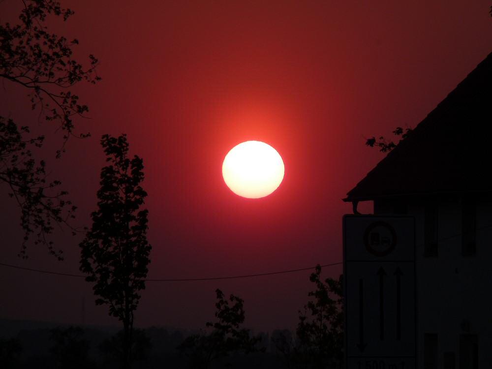 Glutrote Abendsonne