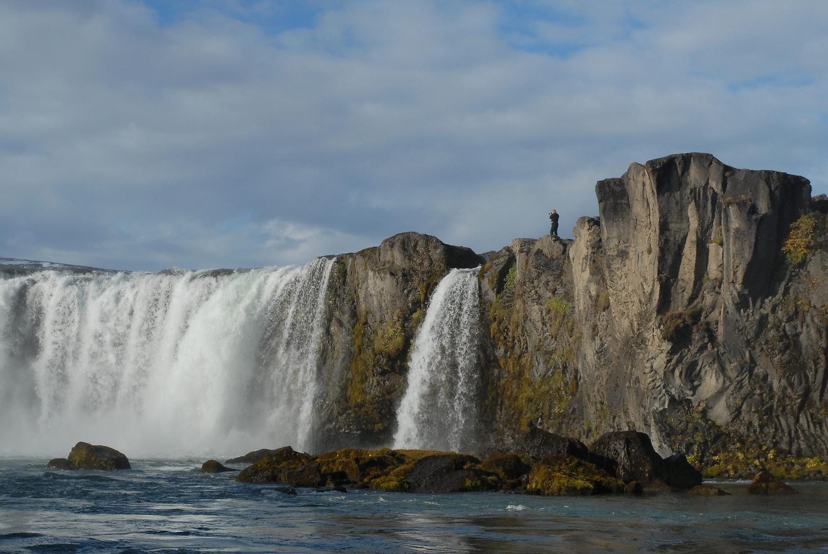 Godafoss (Detail) , Wasserfall in Island
