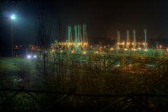 Godorfer Hafen bei Nacht 2