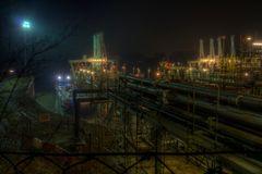 Godorfer Hafen bei Nacht