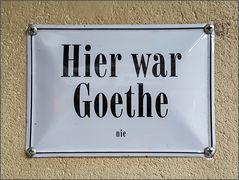 Goethe ...