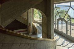 Goetheanum in Dornach - Blick zum großen Balkon hin