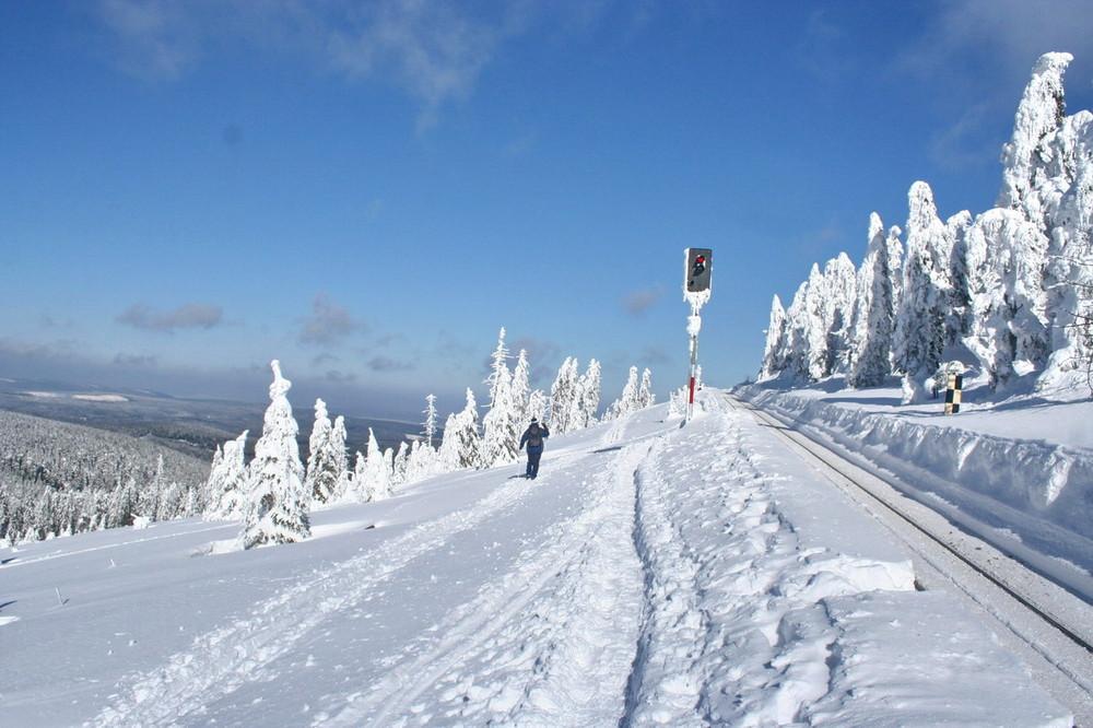 Goetheweg zum Brocken im Winter Oberharz