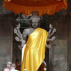 Götterfigur im Tempel von Angkor-Wat