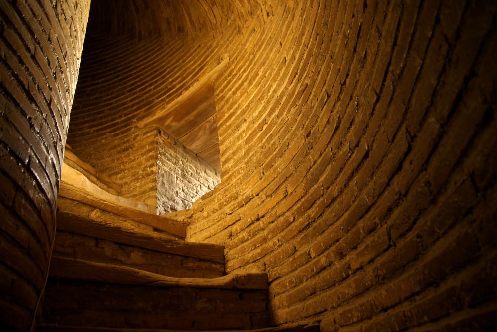 Going up a Minaret Tower in Buchara