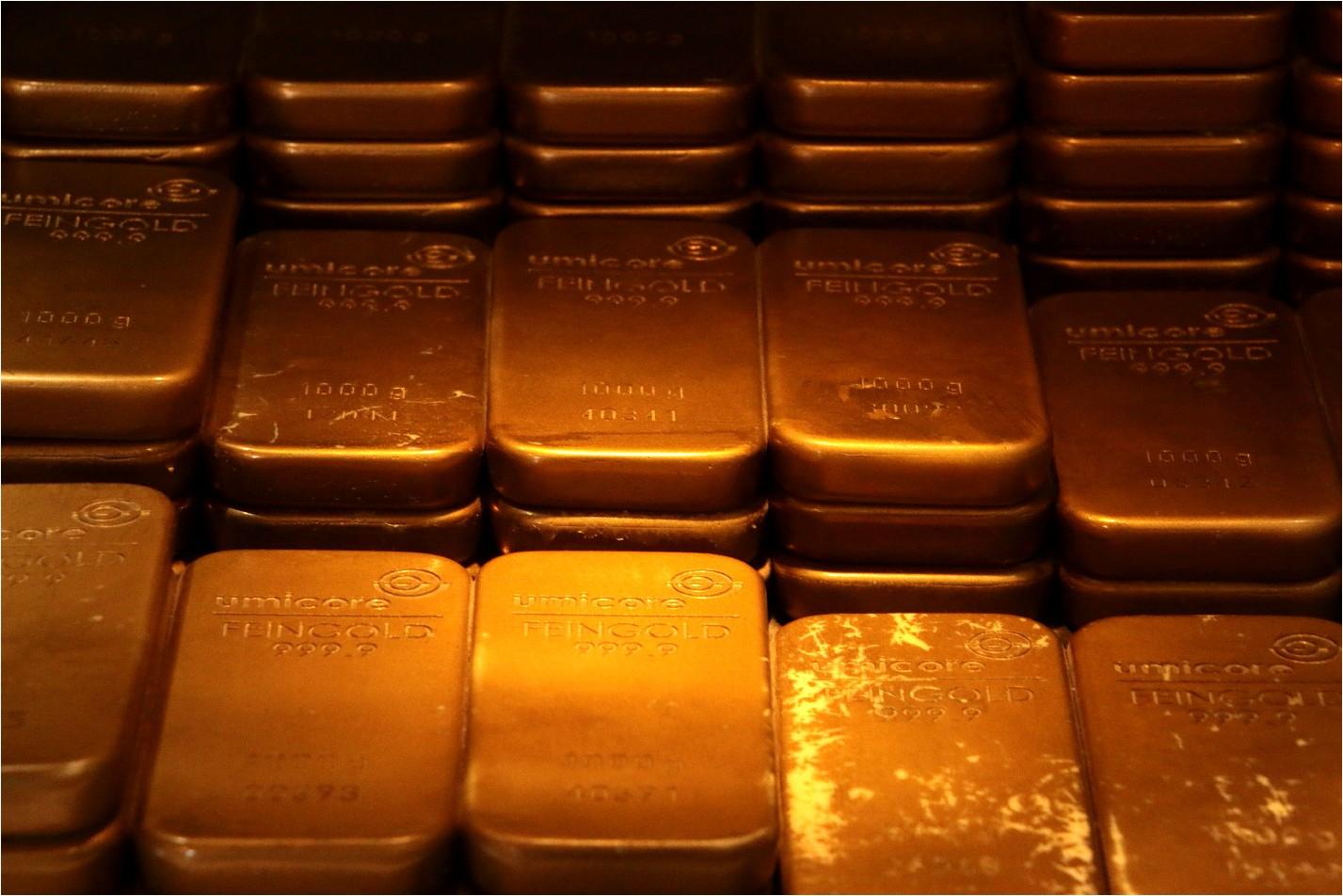 Gold scheffeln