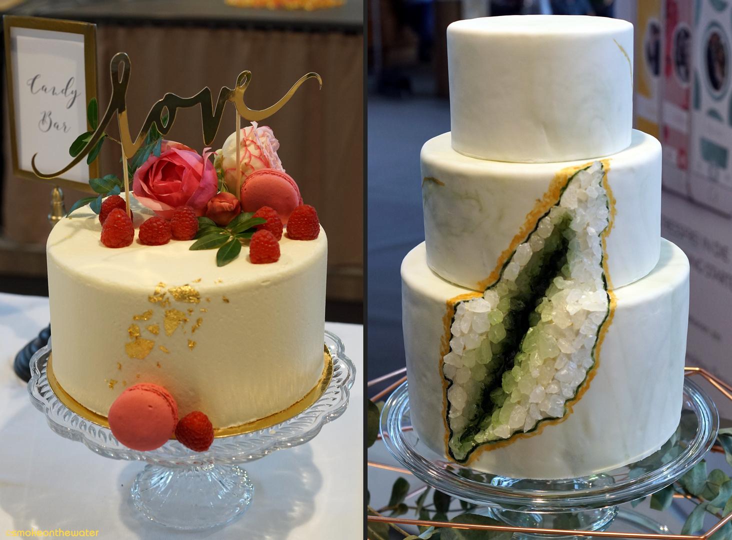 Gold Und Edelstein Auf Der Hochzeitstorte Foto Bild Wedding